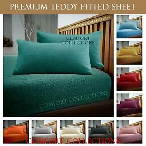 Fleece Fitted Bed Sheets Teddy Warm Sheets Matching Pillowcases Sold Separately