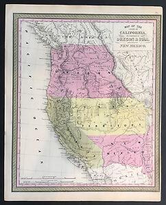 034-Map-of-California-Oregon-Utah-New-Mexico-034-Mitchell-Cowperthwait-1845