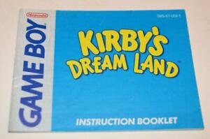 MANUAL ONLY Kirby's Dream Land Original Nintendo Gameboy Instruction Booklet
