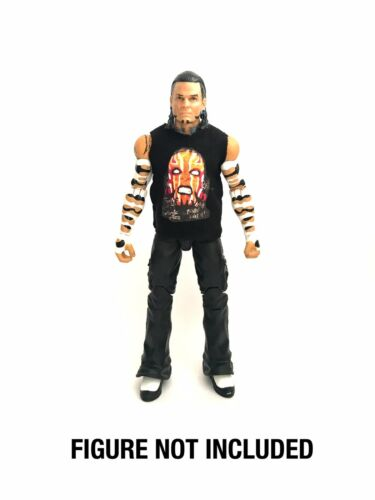 WWE Jeff Hardy /'Obsolete/' Custom Shirt For Mattel Figures.