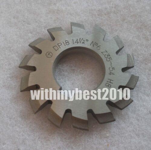 Lot 1pcs Dp18 14-1/2 degree 6# Involute Gear Cutters No.6 Dp18 Gear Cutter
