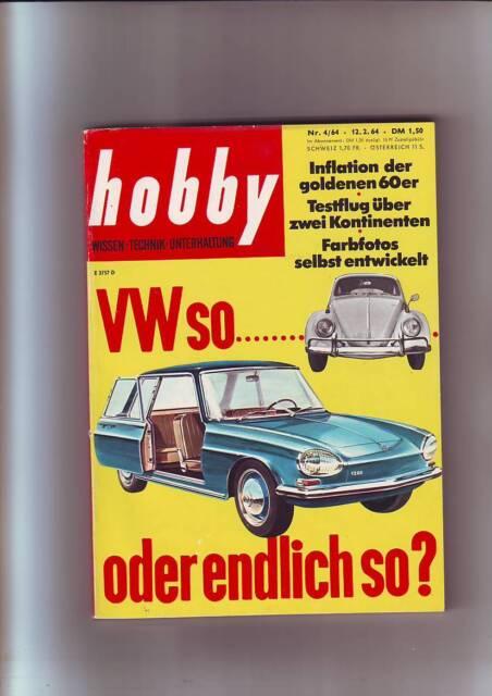 hobby 4/64 NSU-Doppel-Phaeton 8/24 /Bölkow 207/Morane Super Rallye/12.2.1964