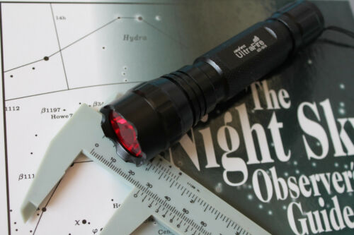 Night Vision Red Flashlight Lens Filter-17.0mm-Thin-for Unknown Flashlight NEW