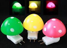 3x Colorful Mushroom Wall Plug LED Night Light Kid's room Night Lamp Family Set