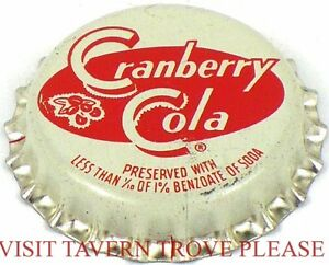 Cola Soda Cork Crown Tavern Trove Unused 1950s Mr