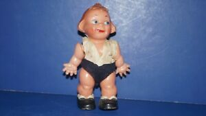 Vintage Celluloid String Jointed Kewpie Girl Doll Made in Germany Ed. B50-0701
