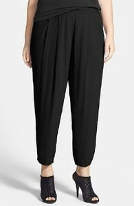 54b9b10cc31 NWT Eileen Fisher Slouchy Silk Georgette Crepe Ankle Pants 3X  278 ...