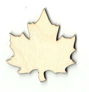 Maple fall leaf unfinished wood shapes craft supplies for Craft supplies wooden shapes