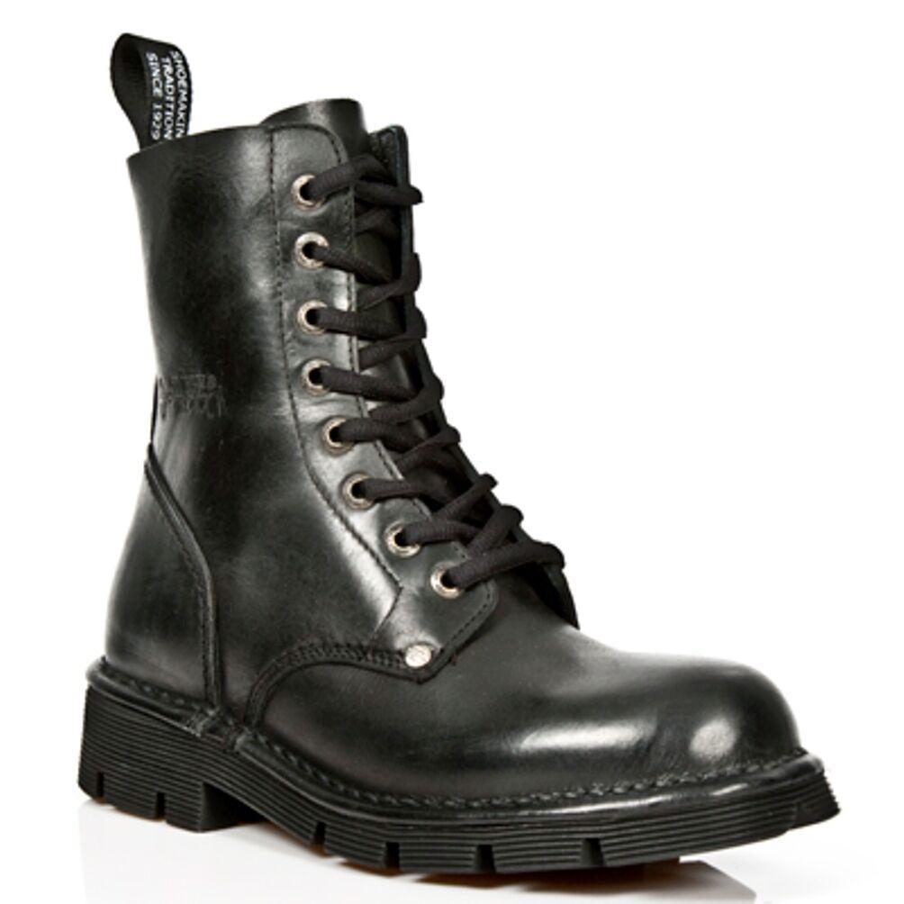 New Rock botas Unisexe Punk Gothic botas - Style NEWMILI084 S1 negro