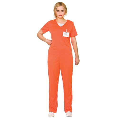 NUOVO Arancione Prigioniero Carcerato-Prigione Detenuto Donna Halloween Costume