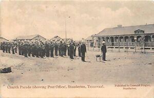 POSTCARD SOUTH AFRICA - TRANSVAAL - STANDERTON - CHURCH PARADE (PO) - CIRCA 1906