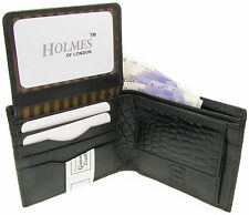 WALLET MENS BLACK GENUINE REAL LEATHER CREDIT CARD HOLDER GIFT BOX UK NEW BL805