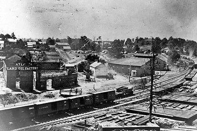 New 5x7 Civil War Photo: Railroad Cars at Train Depot in Atlanta, Georgia