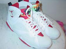 "2014 Nike Air Jordan Retro 7 ""Hare"" White/True Red/Light Silver Shoes! Size 13"