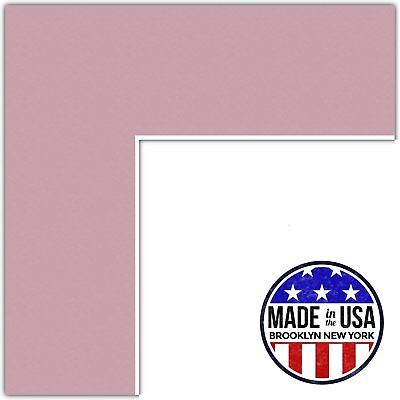21x28 Soft Pink Seashell Custom Mat For Picture Frame With