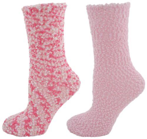 Foxbury Ladies 2 Pack Popcorn Lounge Sleep Socks