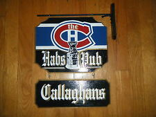 MONTREAL CANADIENS (HABS )WOODEN PUB SIGN