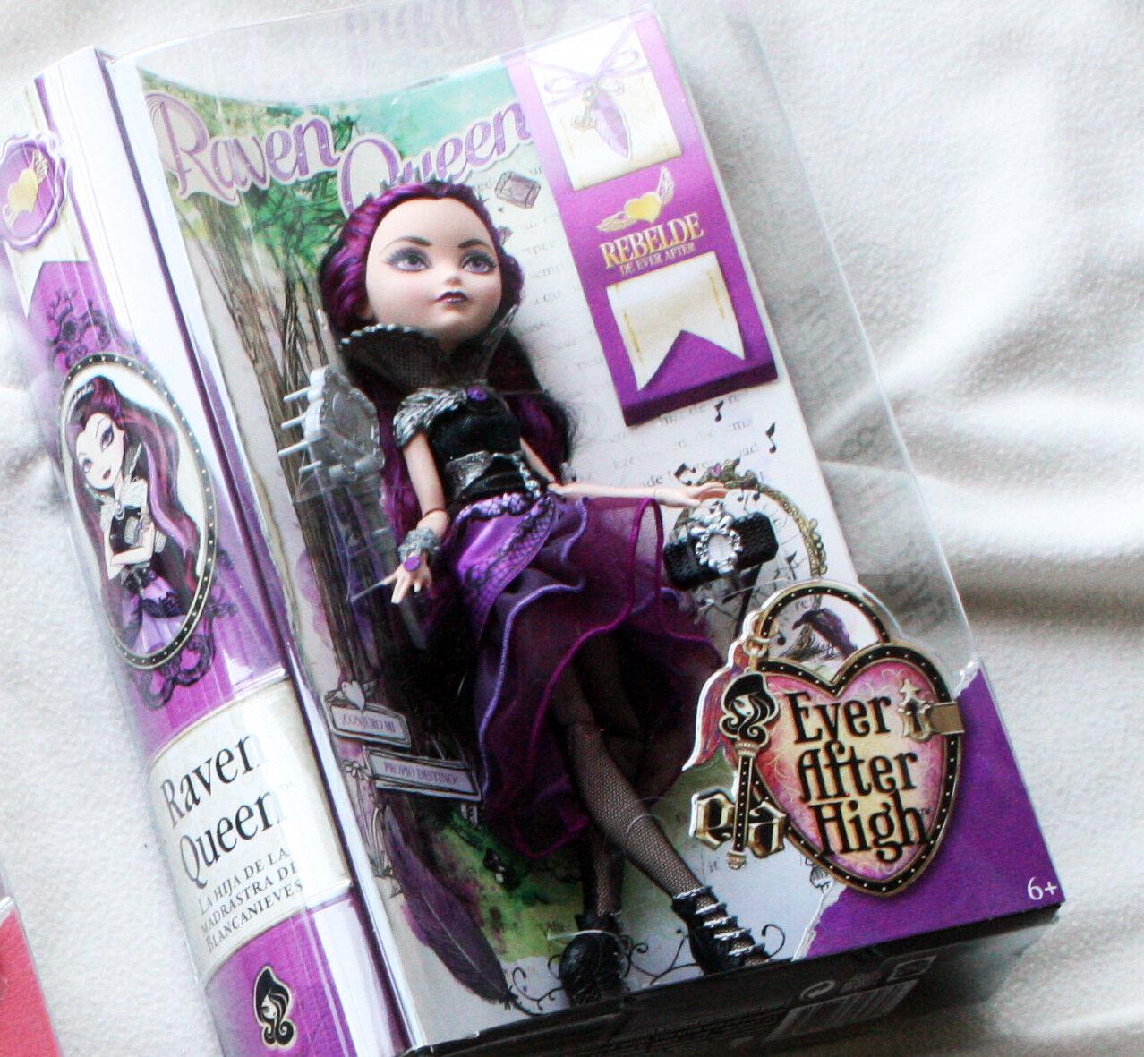 EVER AFTER HIGH bambola   RAVEN regina (FIRST WAVE, 2013 ). MUÑECA. BRe nuovo IN scatola   connotazione di lusso low-key