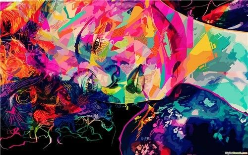 Psychedelic Trippy  Surreal Abstract Astral  Poster 22/'/'x13/'/' inches 35