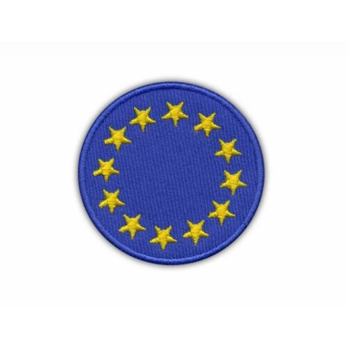 Round European Union Flag Embroidered PATCH//BADGE
