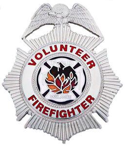 Volunteer-Firefighter-Badge-by-Smith-amp-Warren-in-Goldtone