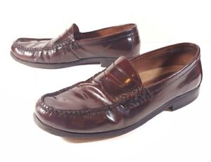 4ad6d8efe62 Johnston and Murphy Mens Shoes Size 10 Pannell Penny Burgundy ...