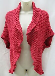 a04589362 New Per Una Mohair Mix Knitted Shrug Sleeveless Cardigan Med Large ...