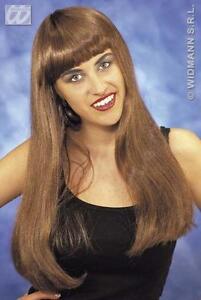 Long-Brown-Wig-With-Fringe-Pop-Star-Celebrity-Halloween-Fancy-Dress