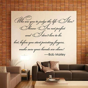 Bob marley quote words mural removable wall sticker art for Bob marley wall mural