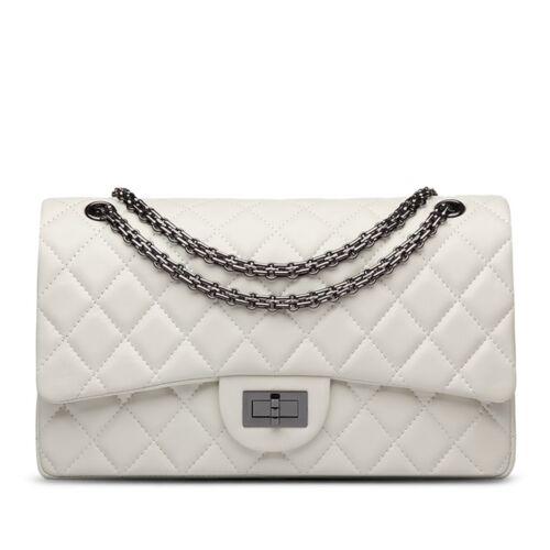 Korea Lambskin Handbag Genuine Sheepskin Leather Women Quilted Purse Bag UK EU