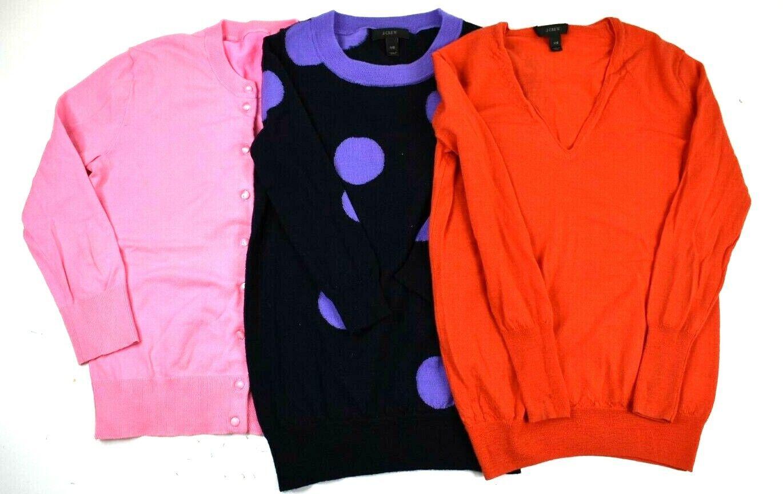 J.Crew Woherren XXS Merino Wool Long Sleeve Sweaters Various Styles Lot of 3