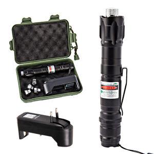 Pointeur-Stylo-Laser-Vert-Visible-Faisceau-Puissant-Cap-Chargeur-Prise-EU-DD