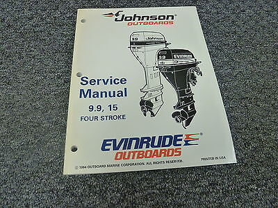 1995 Johnson Evinrude 9 9 15 HP 4 Stroke Motor Shop Service
