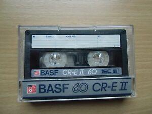 Tv- & Heim-audio-zubehör 1 X Basf 60 Cr-e Ii Chromdioxid Extra Cassette,iec Ii, Audiokassetten & Dats