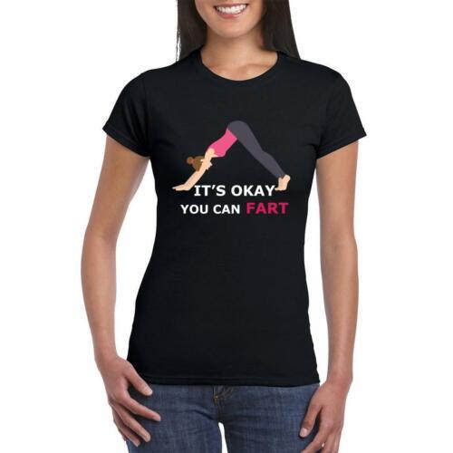 Yoga Women Womens Funny saying Fart Printed T-Shirt Tee Tshirt