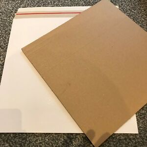 """100 12"""" LP NEW BUDGET 490 MICRON WHITE RECORD MAILERS +100 STIFFENERS + FREE DEL"""