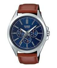 Casio Mtpsw300l-2av Classic Wrist Watch Analog Brown Leather MTPSW300L2AV