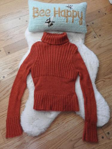 Illig Orange Sweater Medium Mohair