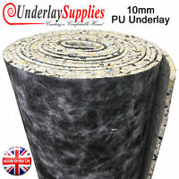 10mm Thick PU Carpet Underlay Full Roll 15m2 UK Manufactured Luxury Feel CHEAP
