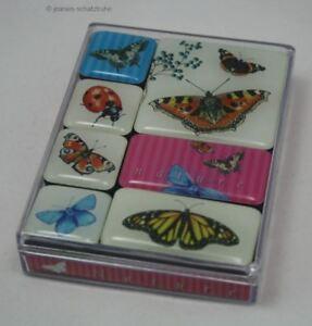 7 verschiedene Magnete in Klarsichtbox Nature Fun - Schmetterlinge / Butterfly
