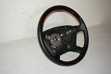 Mercedes-Benz LEATHER Steering Wheel Black WITH WOOD SEGMENTS OEM 1404605303