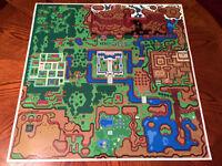 Legend of Zelda A Link to the Past LightWorld Hyrule map game poster Nintendo