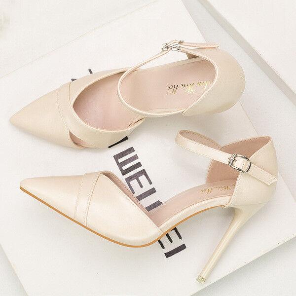 decolte sandali   a 10 panna cm eleganti stiletto eleganti panna 10  simil pelle 9637 34aeb8