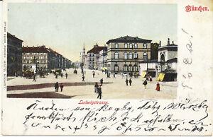 AK München, Ludwigstraße, gel. am 4.5.1901