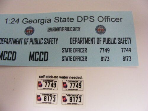 Georgia State DPS Officer MCCD 1//24 Water slide Decal set 1:24 scale