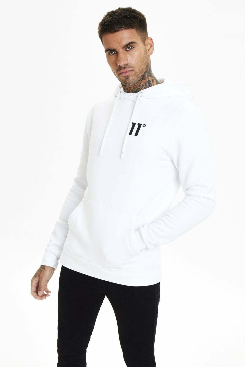 11 Degrees Core Pull Over Hoodie White