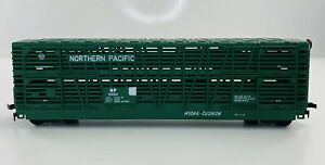 Northern-Pacific-HO-Scale-NP-89001-Green-Model-Train-Cattle-Car-Vintage-20268