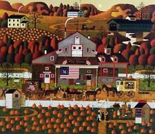 Charles Wysocki Old Glory Farm Signed and Numbered Farm Print
