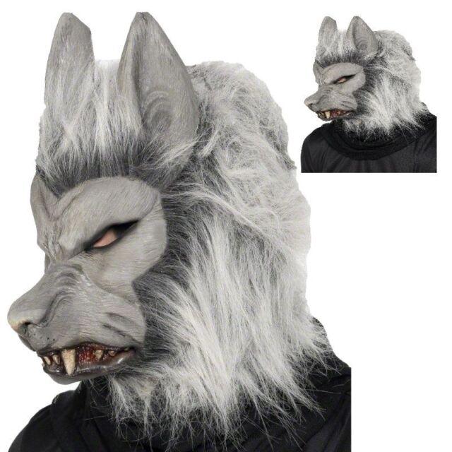 Grigio Horror Lupo Mannaro Maschera da Lupo Halloween Peloso Costume