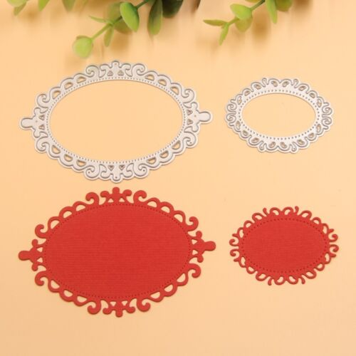 2pc Oval Cutting Dies Stencil Template Lace For DIY Scrapbooking Embossing Craft